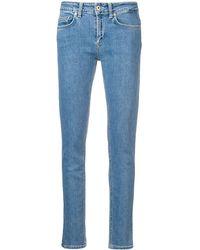 Dondup Jeans skinny a vita bassa - Blu