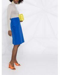 Nina Ricci Straight-cut Skirt - Blue
