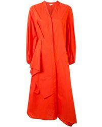 Enfold Платье-рубашка Асимметричного Кроя - Оранжевый