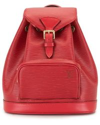 Louis Vuitton Mochila Montsouris mini pre-owned - Rojo