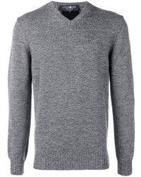 Hydrogen - Thunderlight Intarsia Sweater - Lyst