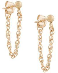Petite Grand Pendientes Rope Chain - Metálico