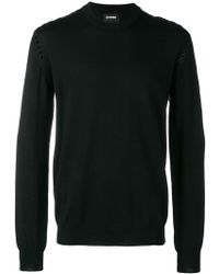 Les Hommes - Studded Round Neck Sweater - Lyst