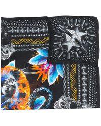 Philipp Plein Mixed-print Scarf - Black
