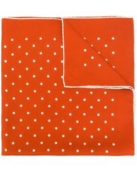 Holland & Holland Spotted Scarf - Orange