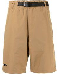 Izzue X Neighborhood Belted Waist Shorts - Brown