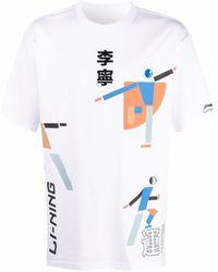 Li-ning T-shirt à imprimé graphique - Blanc