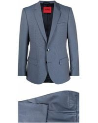 HUGO ツーピース シングルスーツ - ブルー