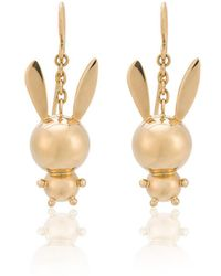 Natasha Zinko Double Bunny Earrings - Metallic