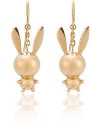 Natasha Zinko Double Bunny Earrings - Metallic