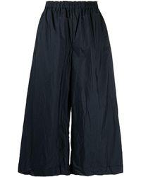 Daniela Gregis Pantaloni crop a gamba ampia - Blu