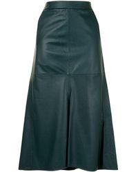 Tibi レザー スカート - グリーン