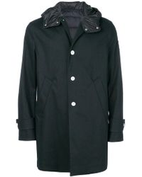 Moncler - Padded Detail Single Breasted Coat - Lyst