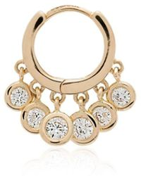 Jacquie Aiche Diamond Hoop Single Earring - Металлик