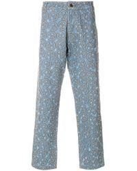 Telfar Embroidered Jeans - Blue