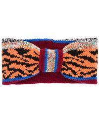 Missoni Повязка На Голову С Тигровым Узором - Красный