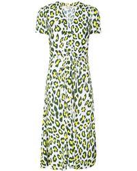 Diane von Furstenberg - Cecilia Leopard Print Dress - Lyst