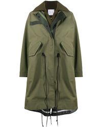 Sacai オーバーサイズ コート - グリーン