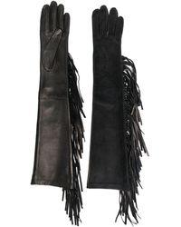 Manokhi Перчатки С Бахромой - Черный