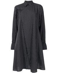 Yohji Yamamoto ストライプ シャツ - ブラック