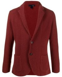 Lardini Knitted Single Breasted Cardigan - Red