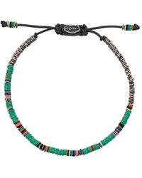 M. Cohen Green African Disc Silver Bracelet - Groen