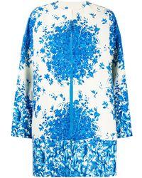 Valentino Kragenloser Mantel - Blau