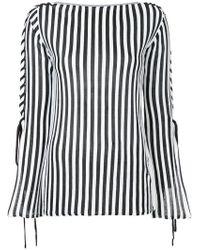 G.v.g.v - Lace Sleeve Striped Top - Lyst