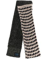 Raf Simons ロゴ スカーフ - ブラック