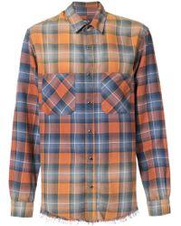 Amiri - Faded Plaid Shirt - Lyst