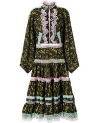 Natasha Zinko - Lace Trim Camouflage Dress - Lyst