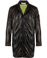 Stone Island Пальто С Нашивкой-логотипом - Черный
