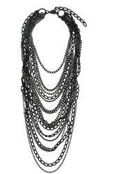 Yohji Yamamoto Multi-strand Necklace - Black