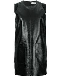 Courreges Patent Shift Dress - Black