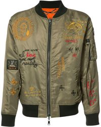 Haculla Embroidered Reversible Bomber Jacket - Groen