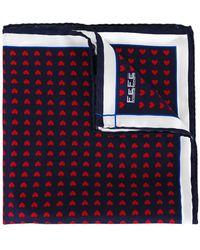 Fefe - Heart Print Pocket Square - Lyst