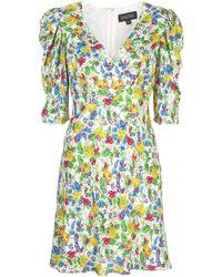 Saloni Colette フローラル ドレス - マルチカラー