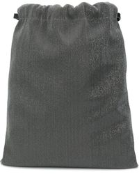 Brunello Cucinelli Рюкзак С Контрастной Вставкой И Металлическим Декором - Серый