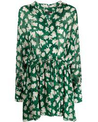 Rag & Bone Abito a fiori Carly - Verde
