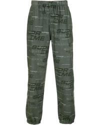Supreme Camouflage Pattern Trousers - Green