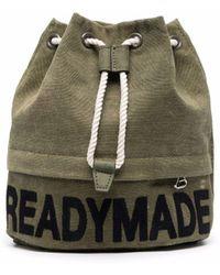 READYMADE Logo Print Sack Bag - Green