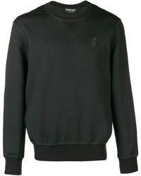 Alexander McQueen Sweater Met Skull Patch - Zwart