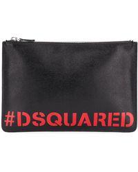 DSquared² エンボスロゴ クラッチバッグ - マルチカラー
