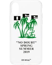 Off-White c/o Virgil Abloh Transparent Palm Print And Logo Iphone X Case - Green
