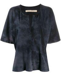 Raquel Allegra ヘンリーネック Tシャツ - ブラック