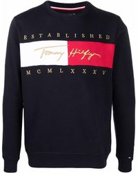 Tommy Hilfiger ロゴ スウェットシャツ - ブルー
