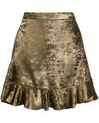 Zadig & Voltaire Jurins Flared Mini Skirt - Metallic