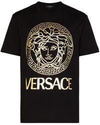 Versace - T-shirt à logo imprimé - Lyst