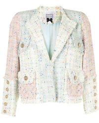 Edward Achour Paris Blazer à design patchwork - Multicolore