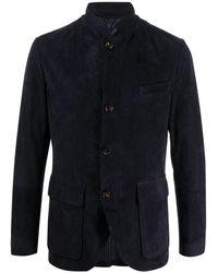 Eleventy Blazer slim con botones - Azul